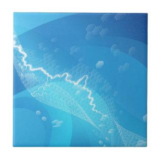 Fondo azul eléctrico de los hexágonos tejas  cerámicas