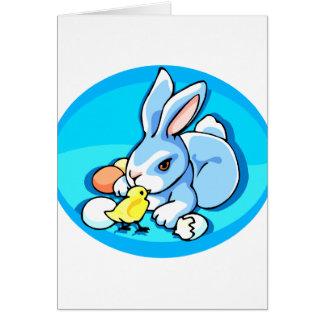 fondo azul graphic.pn del polluelo blanco azul del tarjeta pequeña