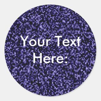 Fondo azul llano de mármol de la plantilla pegatina redonda