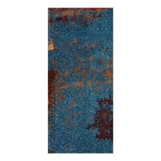 Fondo azul oxidado del modelo diseño de tarjeta publicitaria