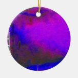 Fondo azul y negro púrpura con la foto de la escal adornos de navidad