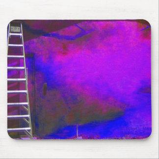 Fondo azul y negro púrpura con la foto de la escal alfombrillas de ratón