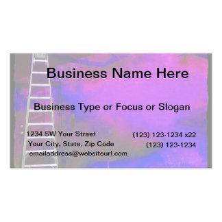 Fondo azul y negro púrpura con la foto de la escal tarjeta de visita