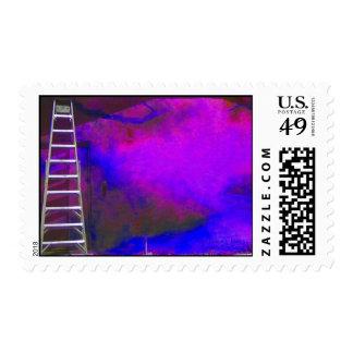 Fondo azul y negro púrpura con la foto de la sellos