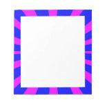 Fondo azul y rosado retro maravilloso libretas para notas