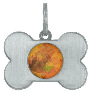 Fondo bajo abstracto anaranjado del polígono de la placa de mascota