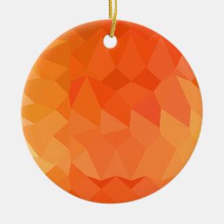 Fondo bajo abstracto anaranjado español del adorno navideño redondo de cerámica