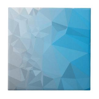 Fondo bajo abstracto azul del polígono de Capri Azulejo Cuadrado Pequeño