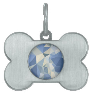 Fondo bajo abstracto azul del polígono de Columbia Placa Mascota