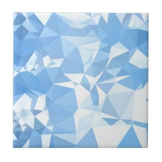 Fondo bajo abstracto azul del polígono de la azulejo cuadrado pequeño