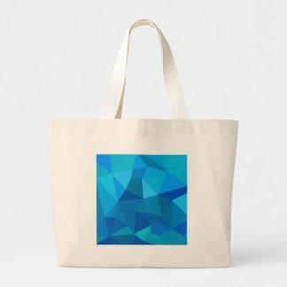Fondo bajo abstracto azul del polígono del bolsa tela grande