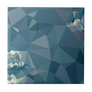 Fondo bajo abstracto azul del polígono del cadete azulejo cuadrado pequeño