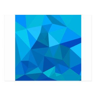 Fondo bajo abstracto azul del polígono del postal