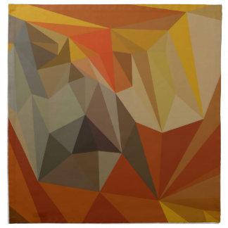 Fondo bajo abstracto de caoba del polígono de servilletas