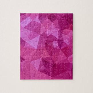 Fondo bajo abstracto de color rosa oscuro del puzzle