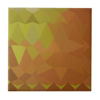 Fondo bajo abstracto del polígono de Brown del Azulejo Cuadrado Pequeño