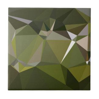 Fondo bajo abstracto del polígono del verde caqui azulejo cuadrado pequeño