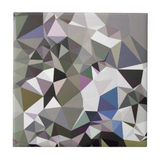 Fondo bajo abstracto gris del polígono de Davy Azulejo Cuadrado Pequeño