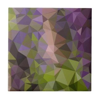 Fondo bajo abstracto púrpura del polígono de azulejo cuadrado pequeño