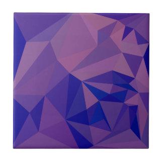 Fondo bajo abstracto púrpura del polígono de Han Azulejo Cuadrado Pequeño