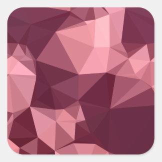 Fondo bajo abstracto púrpura imperial del polígono pegatina cuadrada