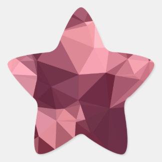 Fondo bajo abstracto púrpura imperial del polígono pegatina en forma de estrella