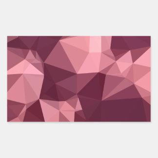 Fondo bajo abstracto púrpura imperial del polígono pegatina rectangular