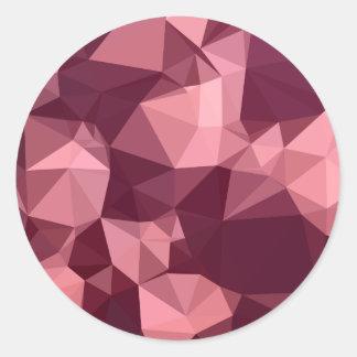 Fondo bajo abstracto púrpura imperial del polígono pegatina redonda