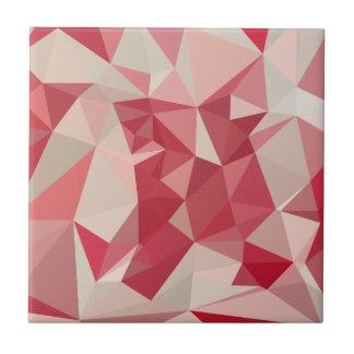 Fondo bajo abstracto rojo cardinal del polígono azulejo cuadrado pequeño