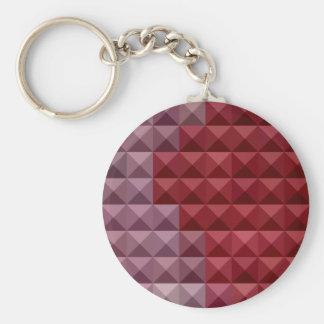 Fondo bajo abstracto rojo del polígono de Falu Llavero Redondo Tipo Pin