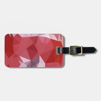 Fondo bajo abstracto rojo del polígono de la etiquetas para maletas