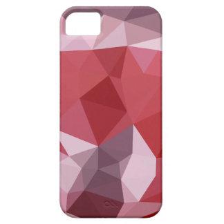 Fondo bajo abstracto rojo del polígono de la funda para iPhone SE/5/5s