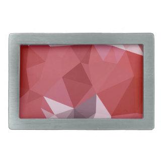 Fondo bajo abstracto rojo del polígono de la hebillas cinturon rectangulares