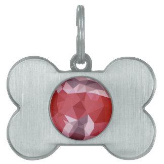 Fondo bajo abstracto rojo del polígono de la placas mascota