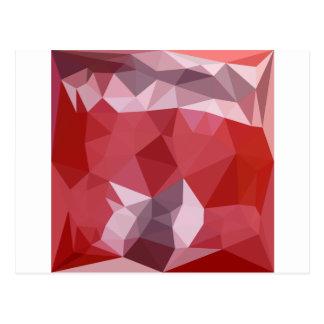 Fondo bajo abstracto rojo del polígono de la postal