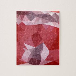 Fondo bajo abstracto rojo del polígono de la puzzle