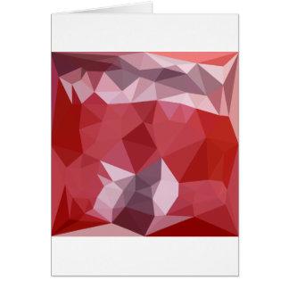 Fondo bajo abstracto rojo del polígono de la tarjeta de felicitación