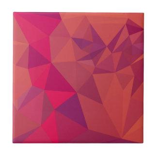Fondo bajo abstracto rojo del polígono del atasco azulejo cuadrado pequeño