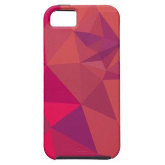 Fondo bajo abstracto rojo del polígono del atasco iPhone 5 carcasa