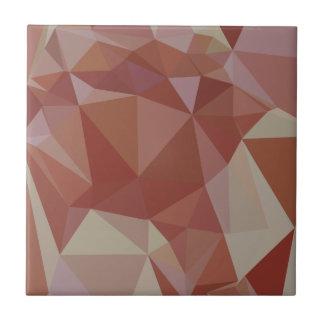 Fondo bajo abstracto rosado del polígono de Congo Azulejo Cuadrado Pequeño