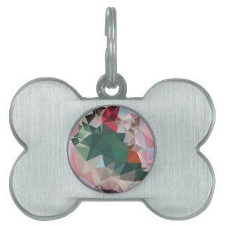 Fondo bajo abstracto rosado del polígono del placa de mascota