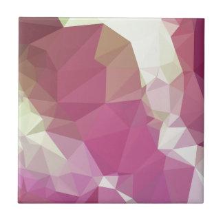 Fondo bajo abstracto rosado ligero del polígono de azulejo cuadrado pequeño