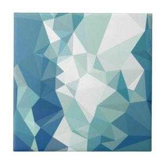 Fondo bajo abstracto verde del polígono de la azulejo cuadrado pequeño