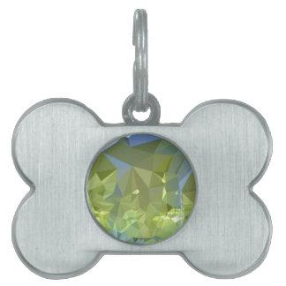 Fondo bajo abstracto verde del polígono de la placas de mascota