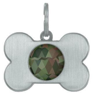 Fondo bajo abstracto verde del polígono de placa mascota