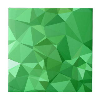 Fondo bajo abstracto verde del polígono del azulejo cuadrado pequeño