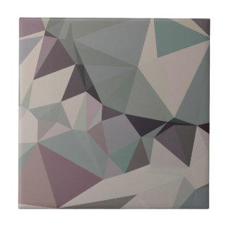 Fondo bajo abstracto verde del polígono del laurel azulejo cuadrado pequeño