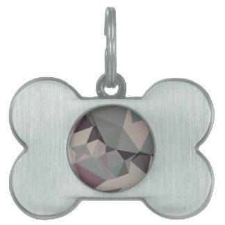 Fondo bajo abstracto verde del polígono del laurel placa de nombre de mascota