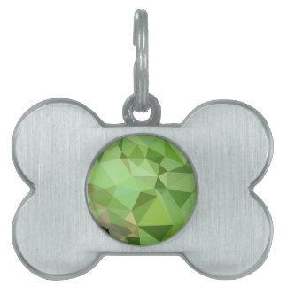 Fondo bajo abstracto verde del polígono del placa de nombre de mascota