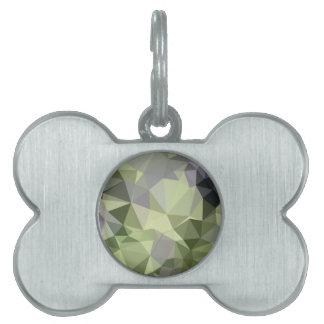 Fondo bajo abstracto verde del polígono del placa mascota